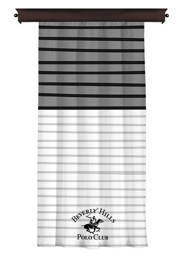 Beverly Hills Polo Club Tek Kanat Fon Perde 140x260 Cm Gri